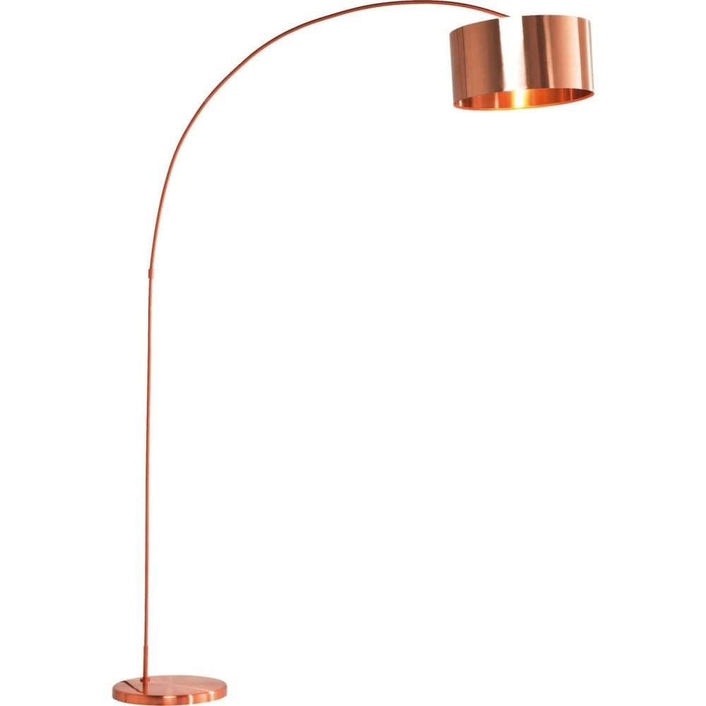 Stojacia lampa v medenej farbe Kare Design Gooseneck