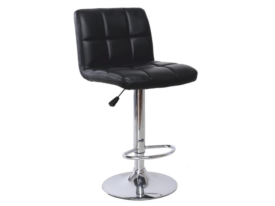 Barová stolička Kandy (čierna + chróm)
