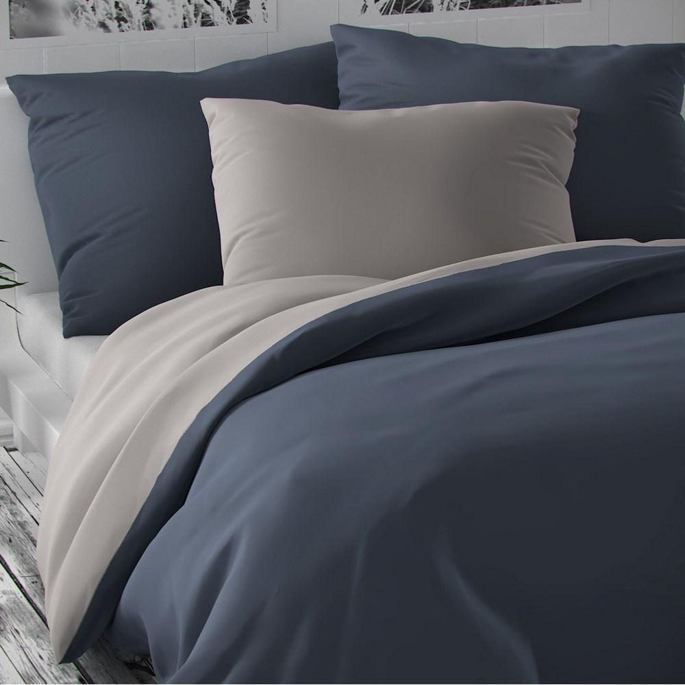 Kvalitex Saténové obliečky Luxury Collection svetlosivá/tmavosivá, 140 x 220 cm, 70 x 90 cm