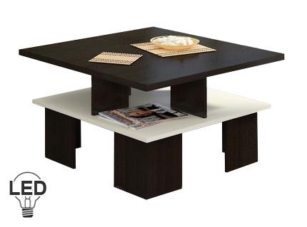 Konferenčný stolík Supra 1 (wenge + krém)