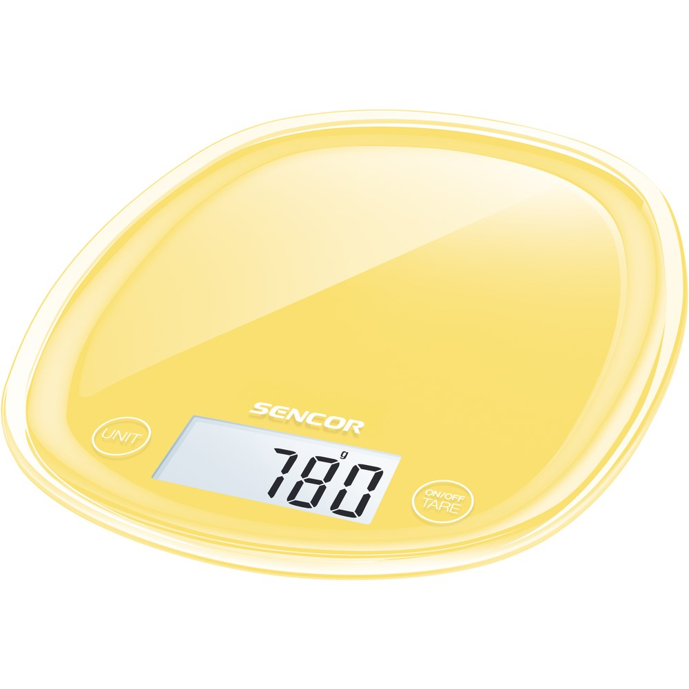 Sencor SKS 36YL kuchynská váha, žltá,