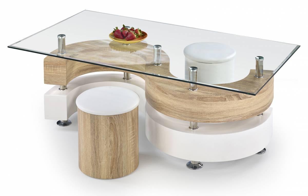 Konferenčný stolík NINA 4 (s taburetkami)