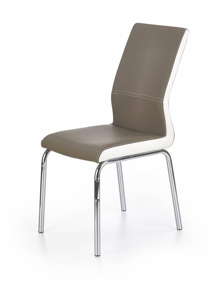 Jedálenská stolička K225 (cappuccino + biela)