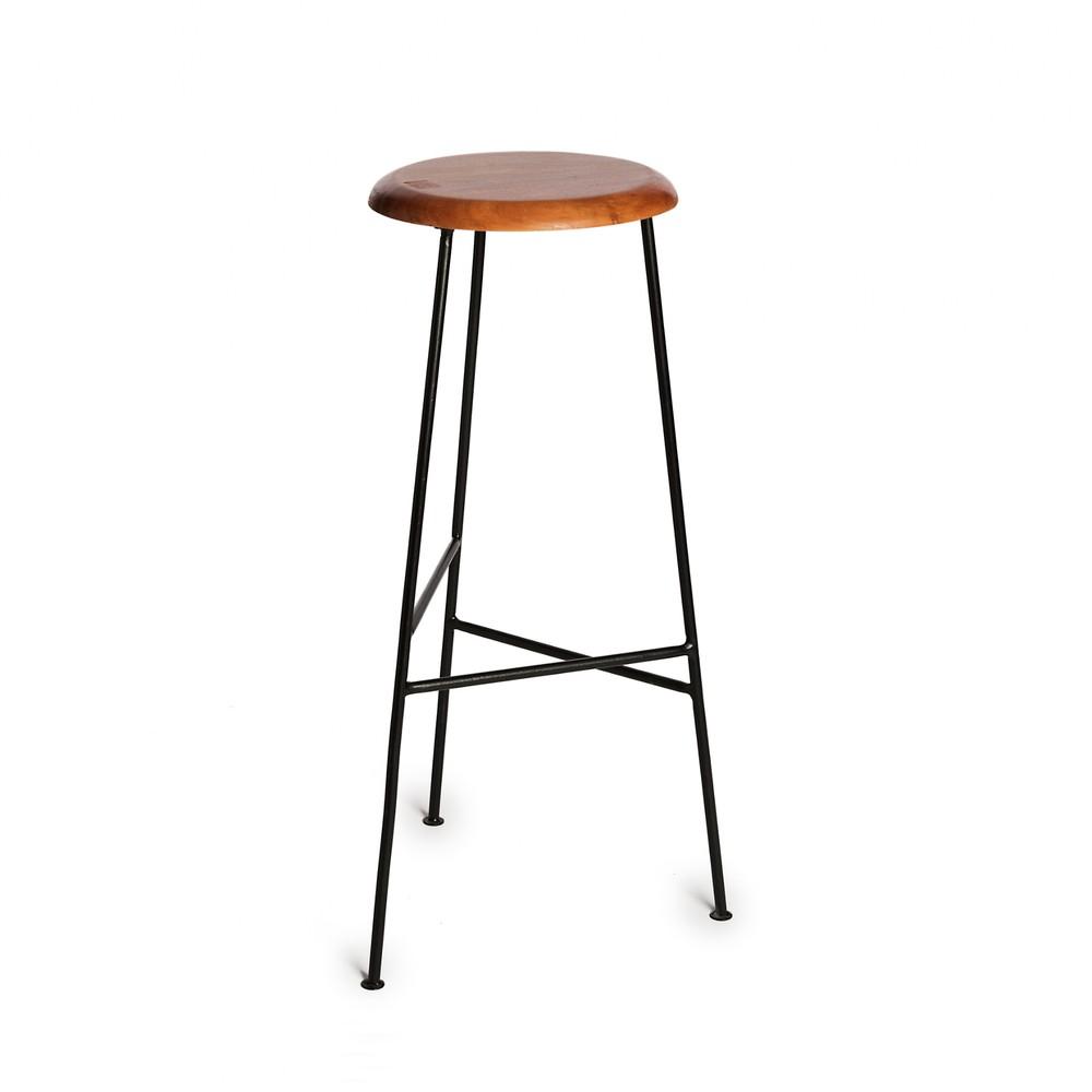 Barová stolička so sedadlom z akáciového dreva Simla Bar, výška 78 cm