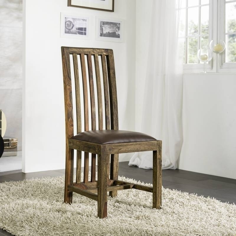 PURE SHEESHAM stolička #702 olejovaný indický palisander, sivá