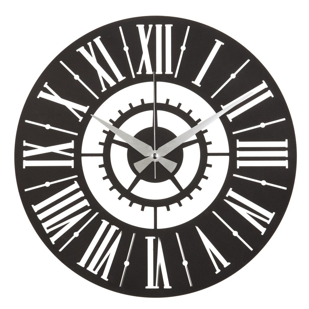 Kovové nástenné hodiny Six