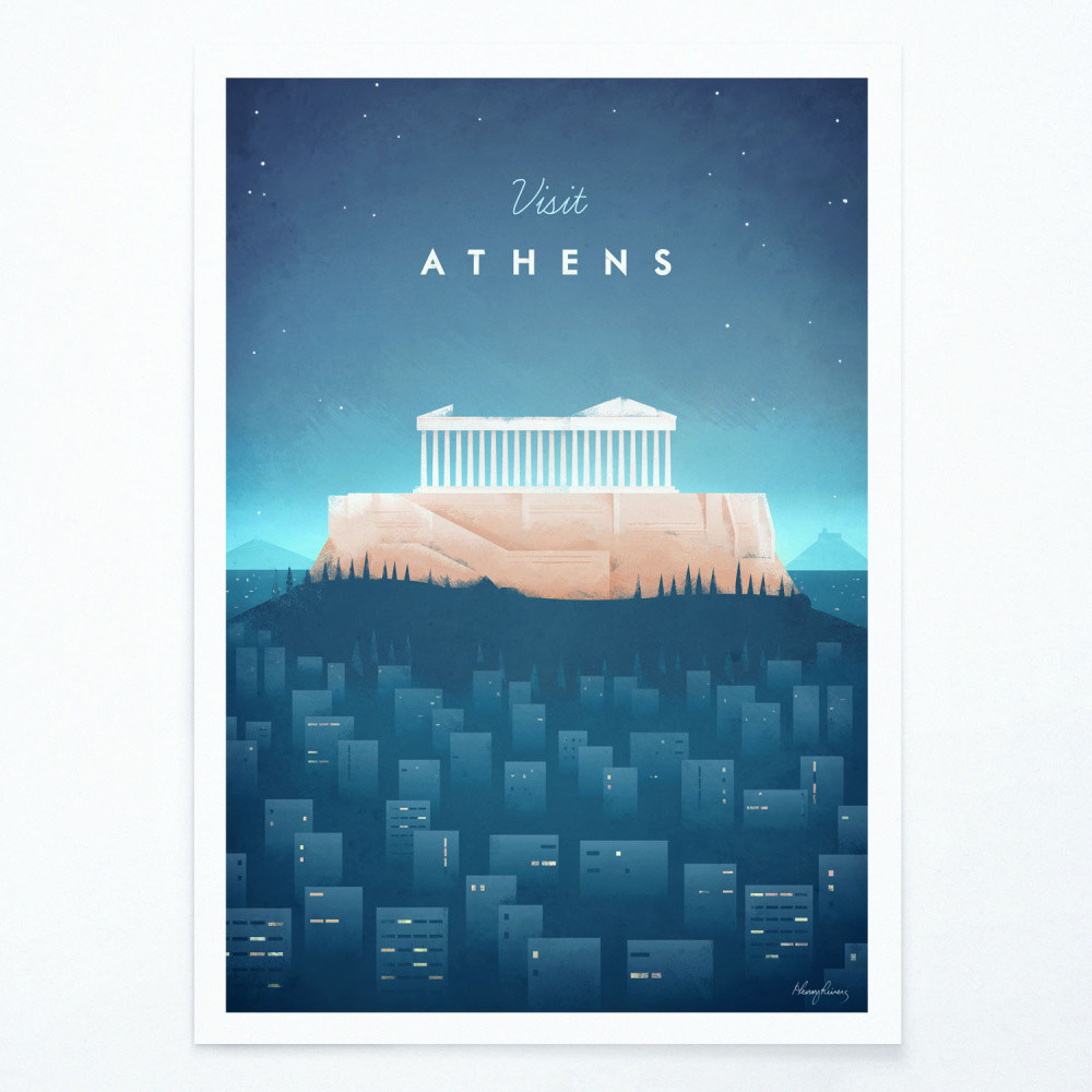 Plagát Travelposter Athens, A3