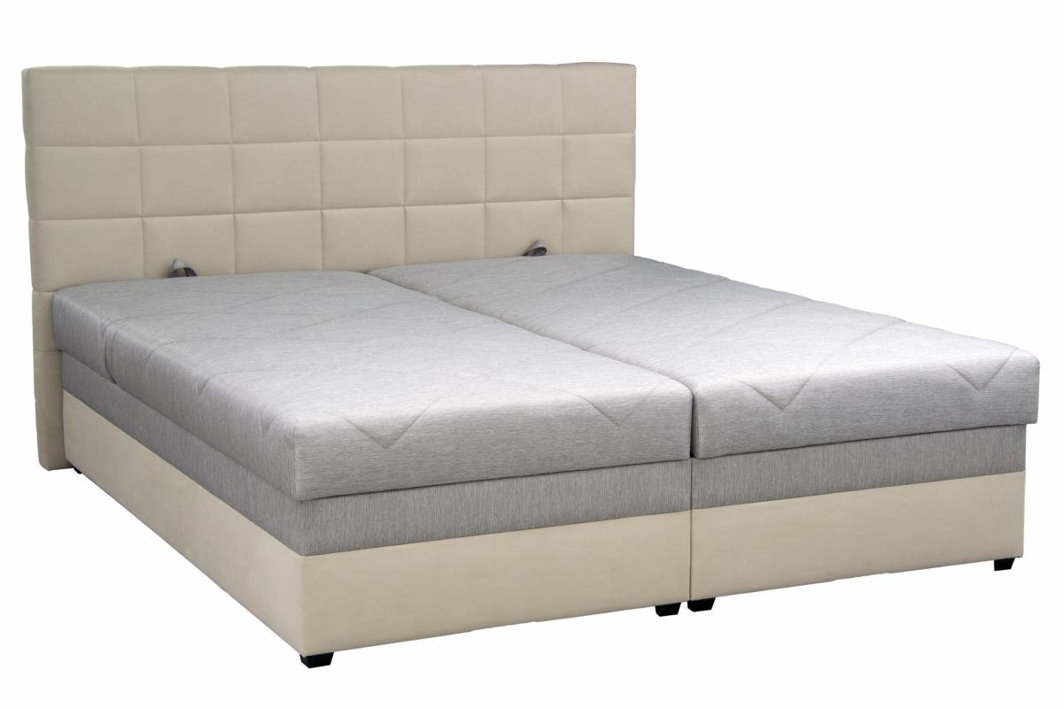Manželská posteľ 160 cm Blanár Romana (béžová) (s roštom a matracom)