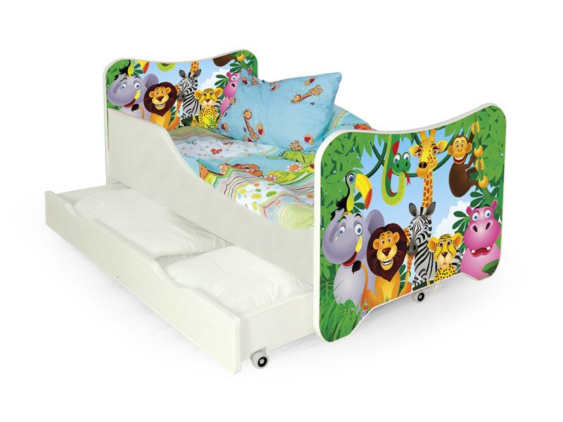 Jednolôžková posteľ 80 cm Happy Jungle (s roštom a matracom)