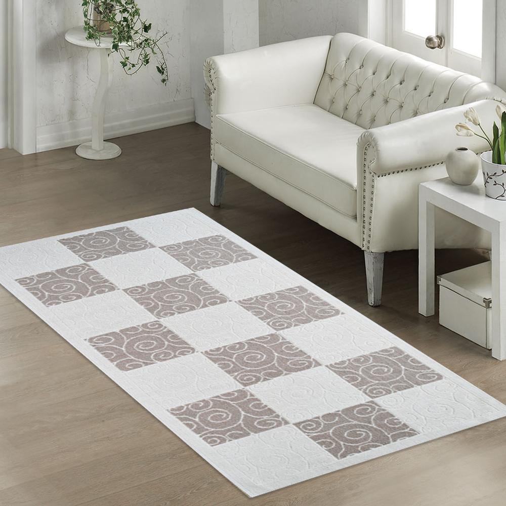 Béžový odolný koberec Vitaus Patchwork, 100x150cm