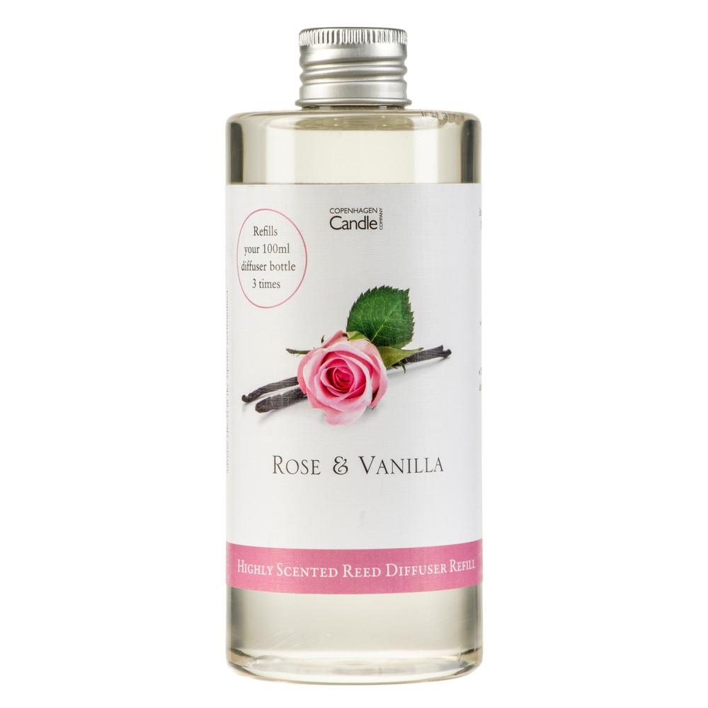 Náplň do aróma difuzéru Copenhagen Candles Rose&Vanilla, 300 ml