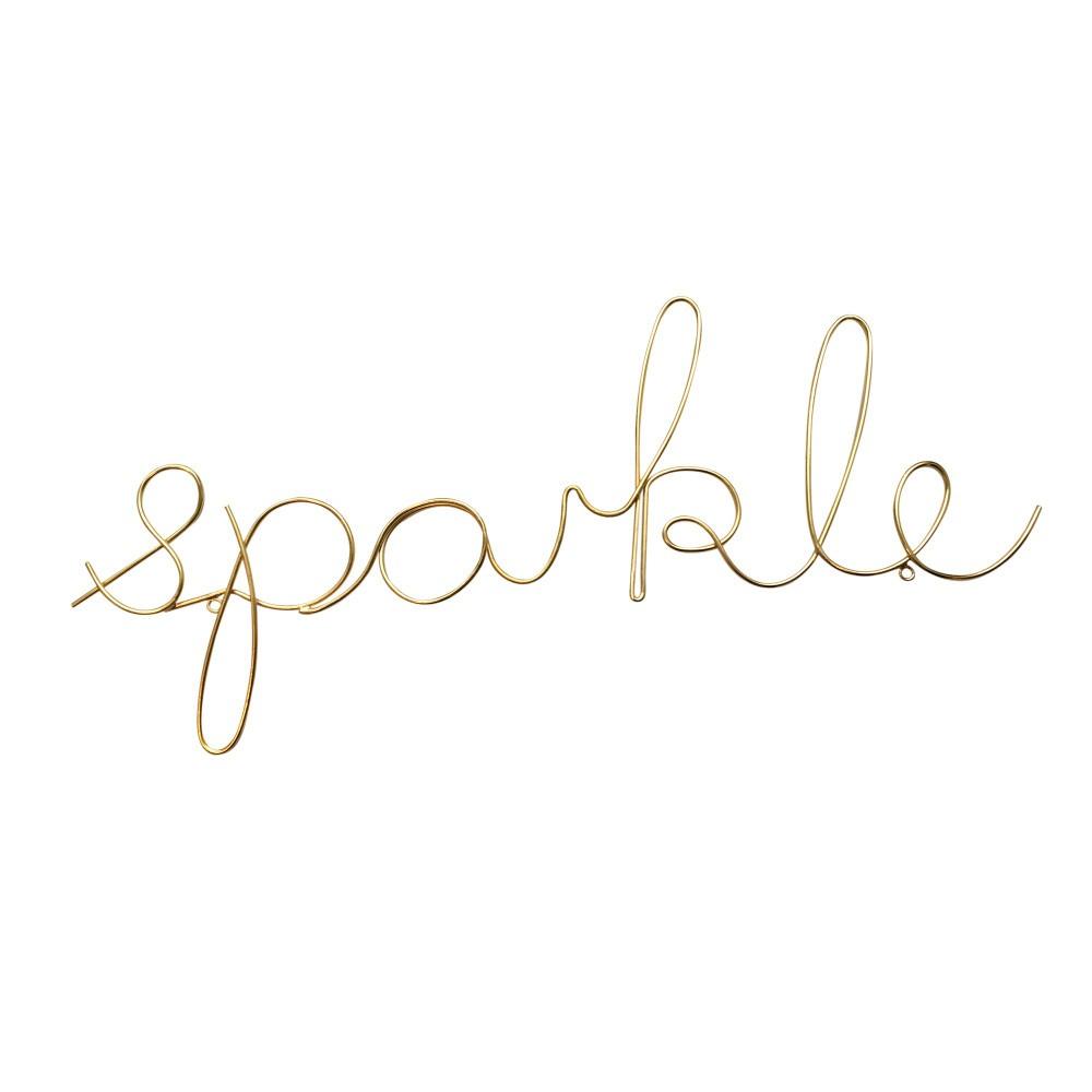 Dekoratívny nápis v zlatej farbe Bombay Duck Sparkle