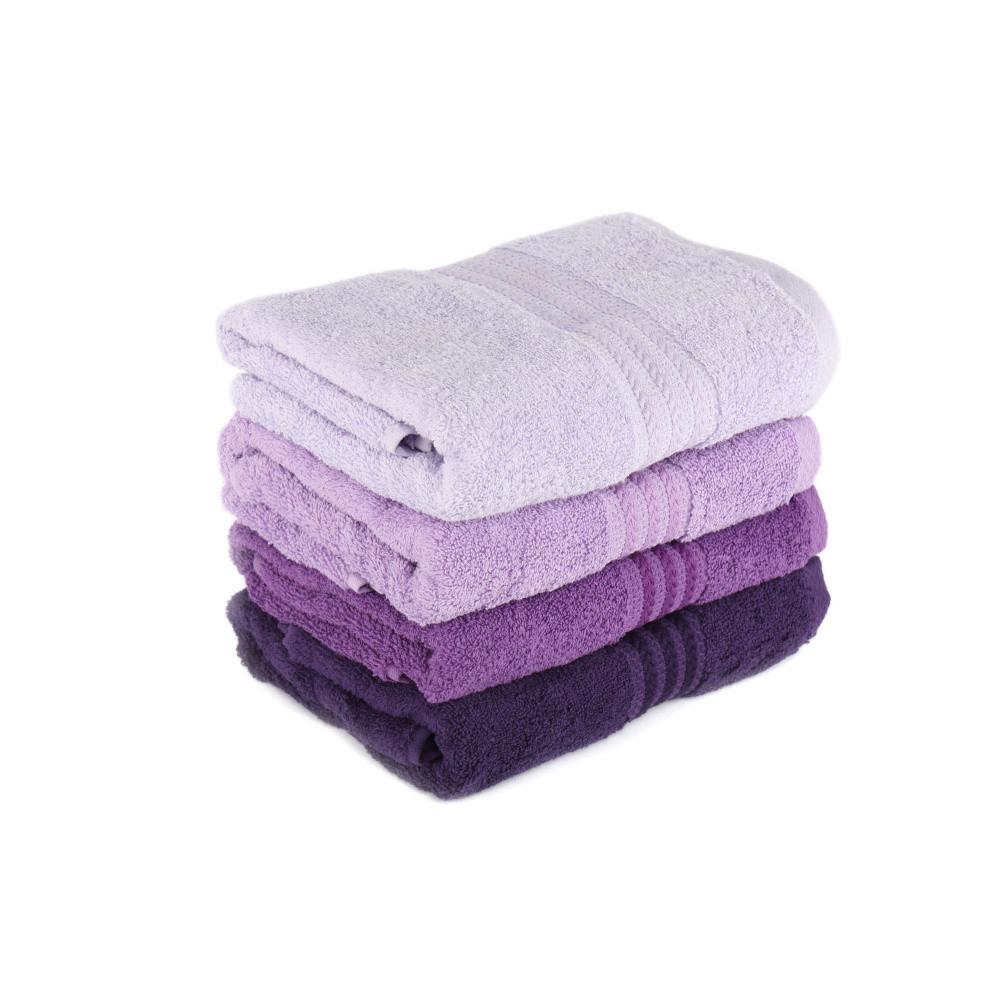 Sada 4 uterákov Rainbow Violet, 50x90cm