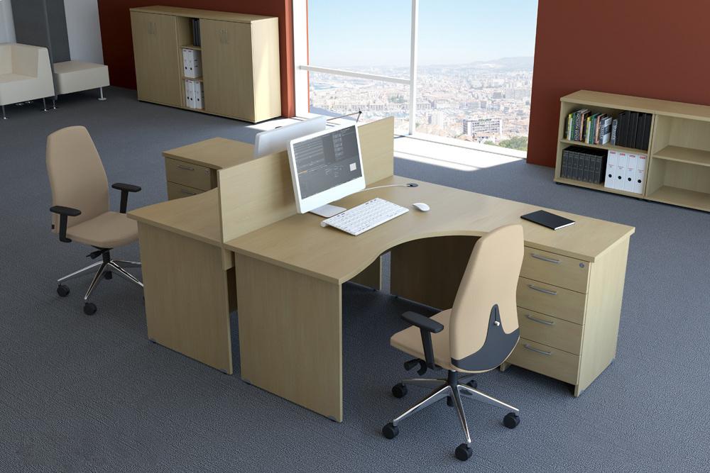 Rauman Zostava kancelárskeho nábytku Visio 2 calvados R111002 03