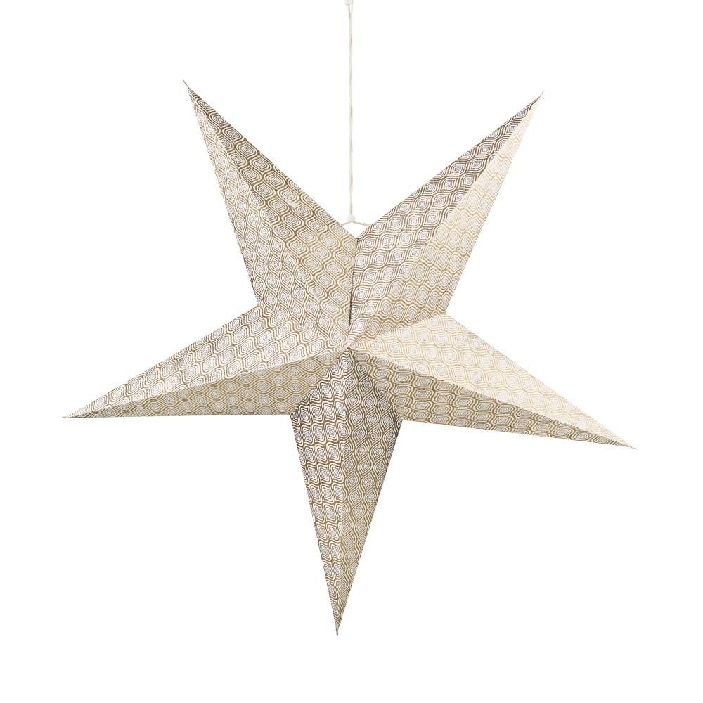 Papierová dekoratívna hviezda zlatej farby Butlers Magica, ⌀ 60 cm