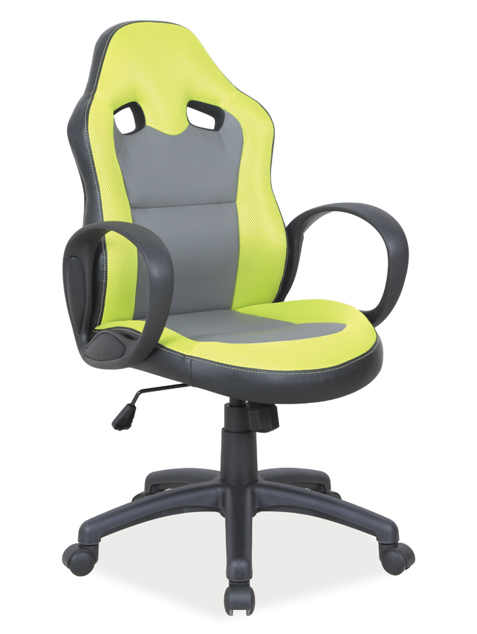 Kancelárske kreslo Q-054   Farba: Zelená/čierna/sivá