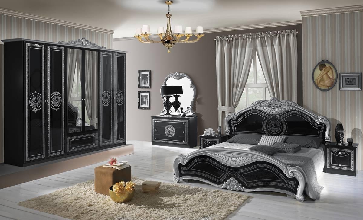 Spálňa LAURI - čierna, strieborná