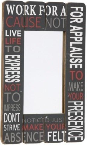 Nástenné zrkadlo WORK FOR A CAUSE NOT - tmavosivá