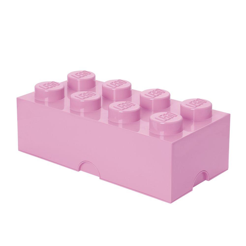 Svetloružový úložný box LEGO®