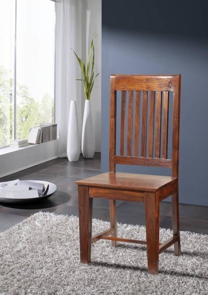 OXFORD #14 Kolonialart stolička, široká opierka, masívne agátové drevo