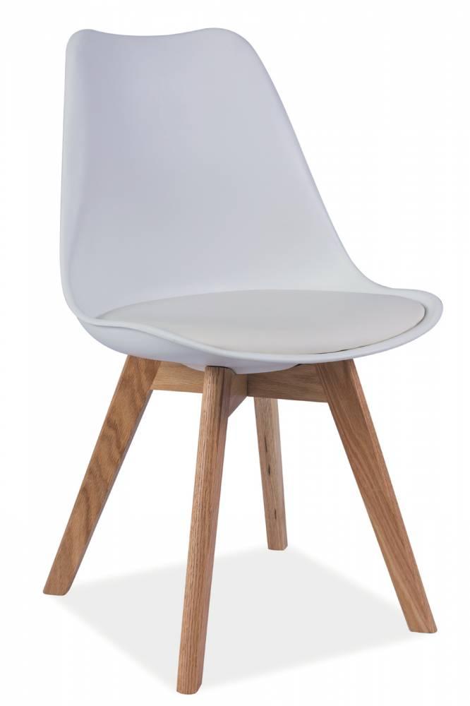 Jedálenská stolička Kris (biela + dub)