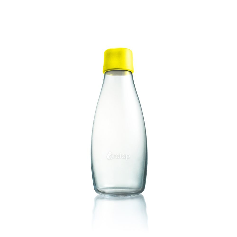 Žltá sklenená fľaša ReTap s doživotnou zárukou, 500ml