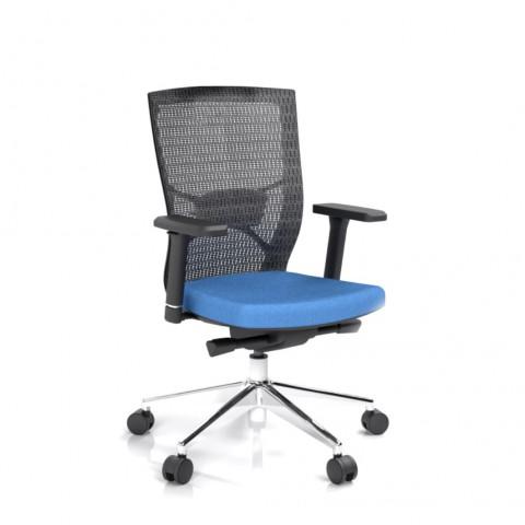 Rauman Kancelárska stolička Fiore, modrá bez hlavové opierky FIORE BMF B16