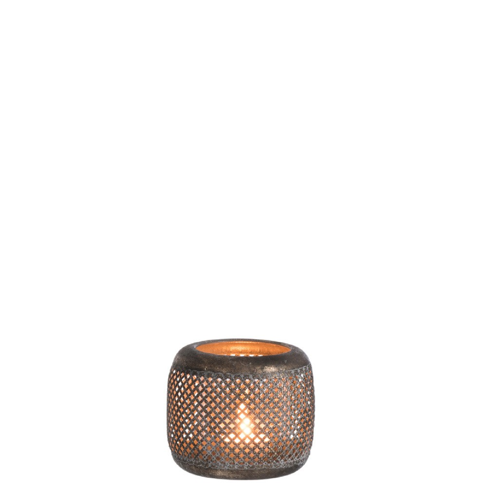 Kovový dekoratívny svietnik J-Line, ⌀ 11 cm