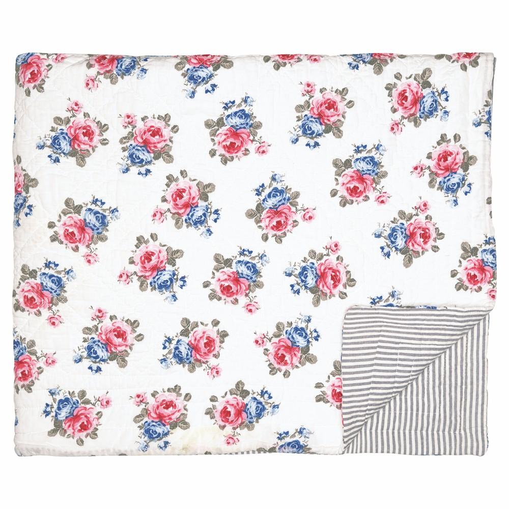 Kvetovaný prikrývka cez posteľ Green Gate Hailey, 180 x 230 cm