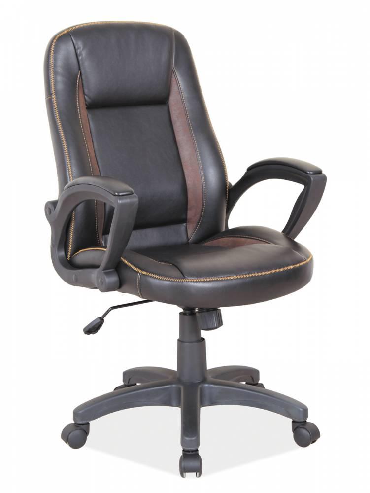 Kancelárske kreslo Q-810 (ekokoža čierna + hnedá)