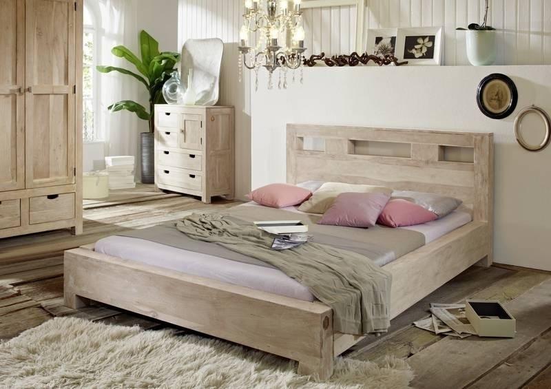 NATURE WHITE posteľ #202 180x200cm lakovaný agátový nábytok