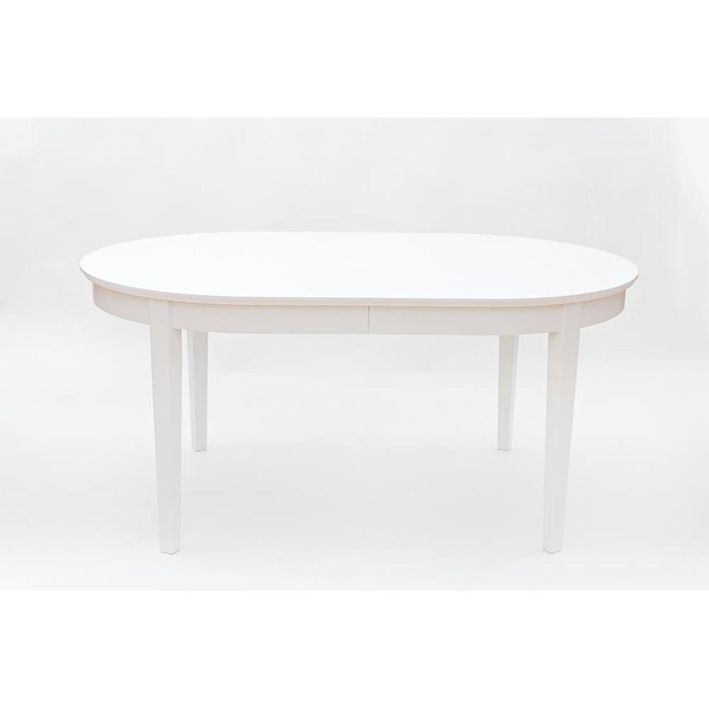 Biely rozkladací jedálenský stôl Wermo Family, 165 - 265×105cm