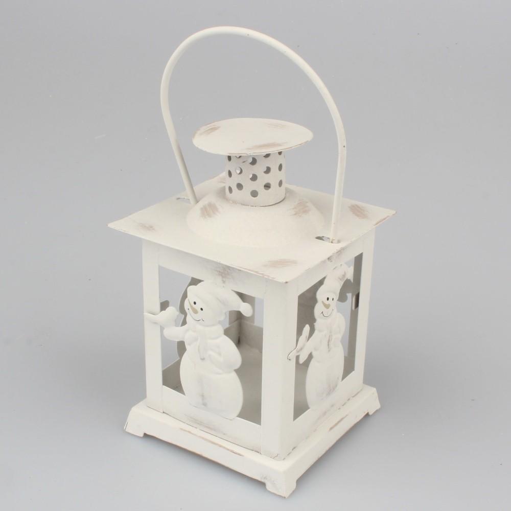 Biely lampáš s motívom snehuliaka Dakls