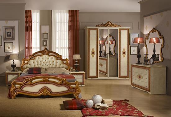 Štýlová talianska posteľ SILVIA CAPITONE 180x200 cm - béžová