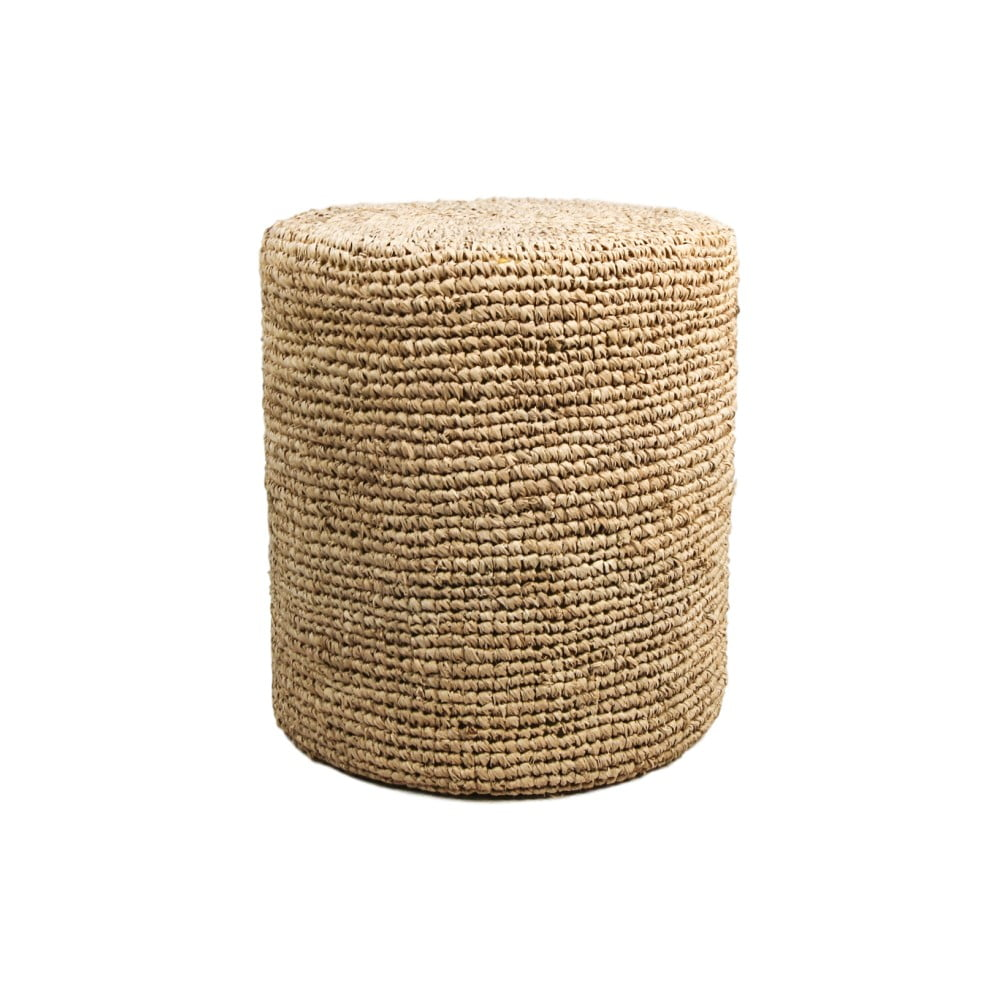 Puf z palmového dreva HSM collection Raffia, 40×50 cm