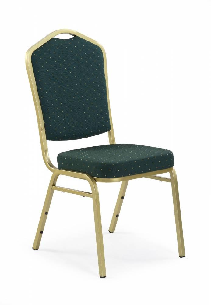 Jedálenská stolička K66 zlatá + zelená