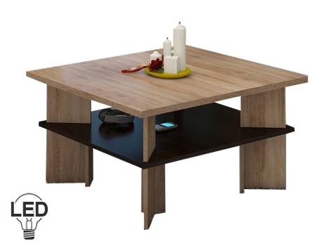 Konferenčný stolík Vectra 1 (sonoma svetlá + tmavá)