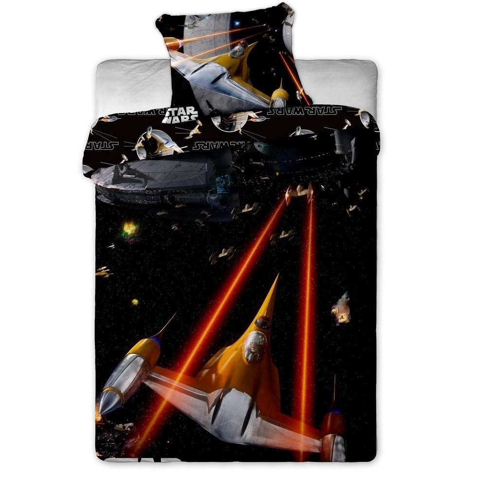 Jerry Fabrics Detské bavlnené obliečky Star Wars Spaceship, 140 x 200 cm, 70 x 90 cm