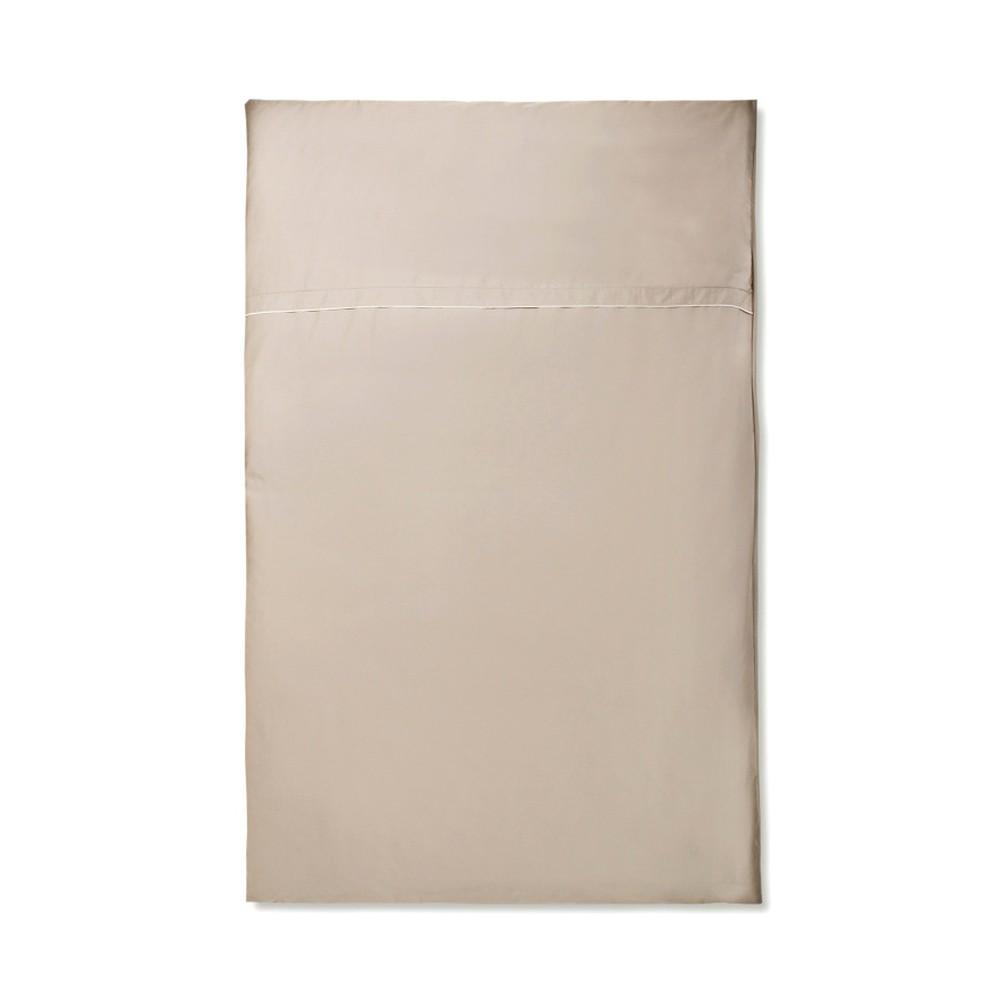Béžové obliečky z bavlneného saténu Casa Di Bassi Basic,135×200 cm