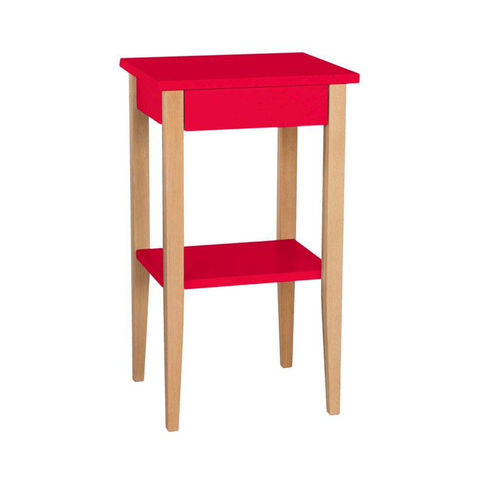Červený odkladací stolík Ragaba Entlik