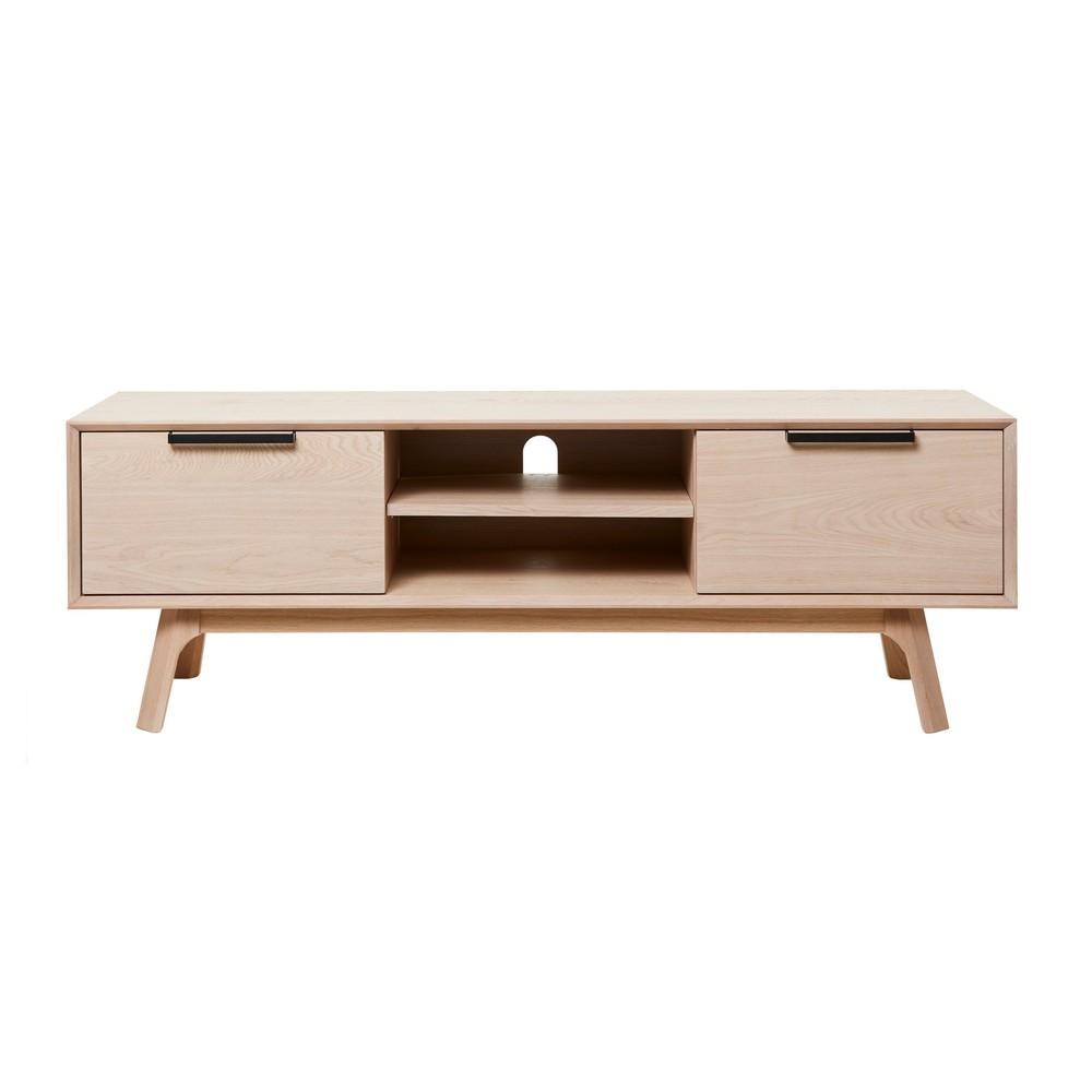 TV stolík z bieleho dubového dreva Unique Furniture Vivara