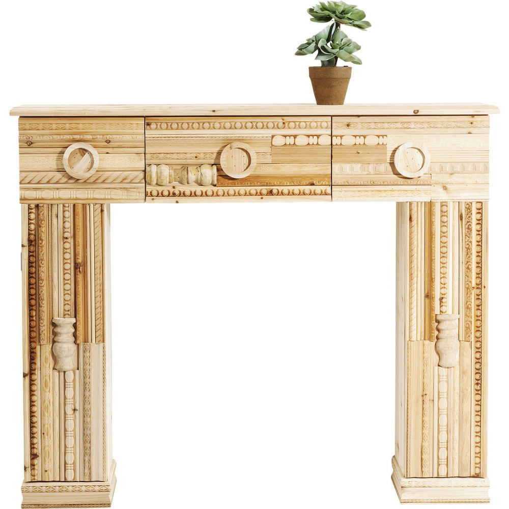 Dekoratívna krbová rímsa z jedľového dreva Kare Design Ornaments