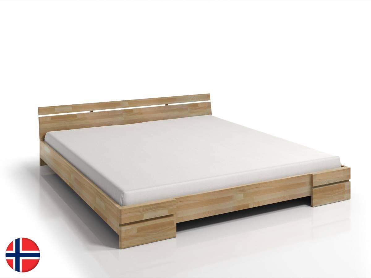 Manželská posteľ 180 cm Naturlig Bavergen Long (buk) (s roštom)