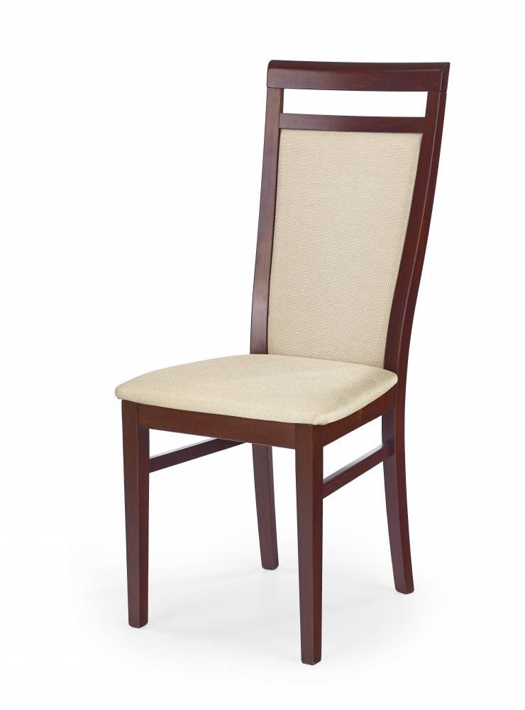 Jedálenská stolička Damian (čerešňa antická II + béžová)