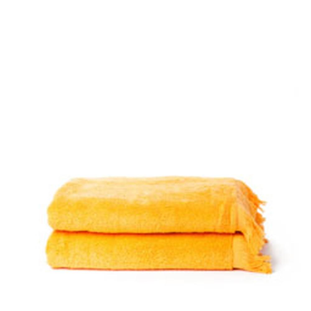 Sada 2 oranžových bavlnených osušiek Casa Di Bassi Bath