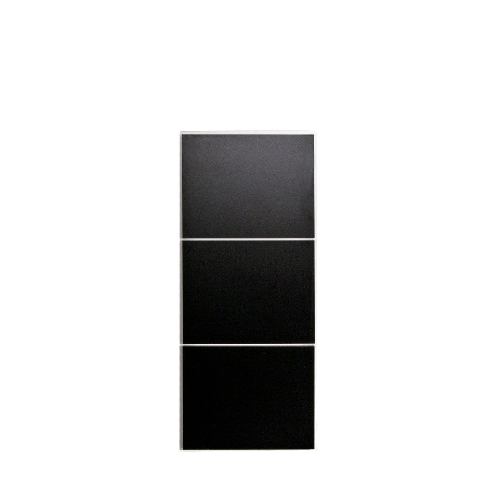 Čierna skrinka na topánky s bielym korpusom Symbiosis Arnie