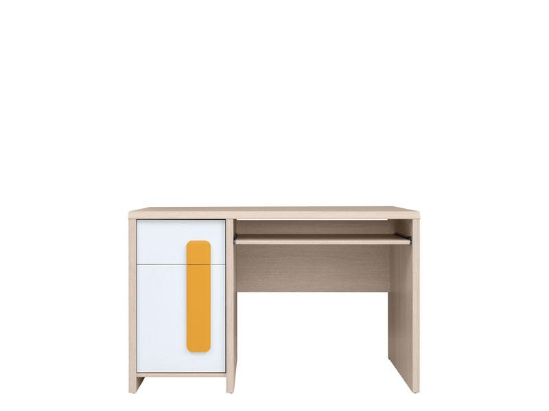 PC stolík Colorado BIU/120 (dub svetlý belluno + biela + pomarančová)