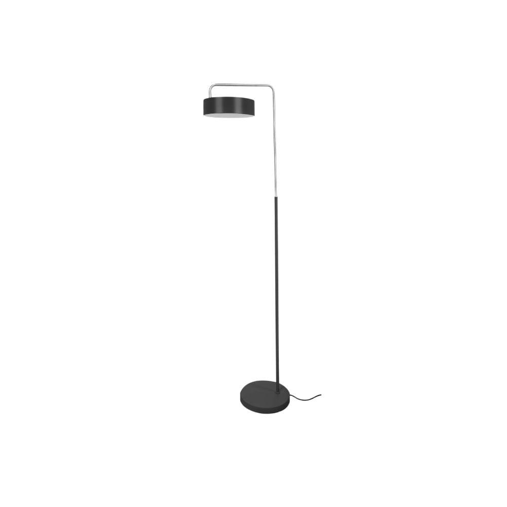 Čierna stojacia lampa Leitmotiv Curv