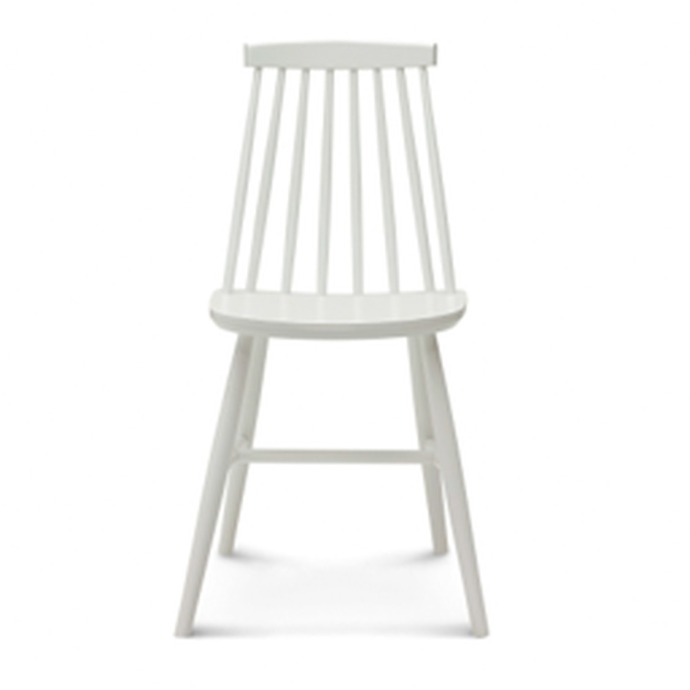 Biela drevená stolička Fameg Age