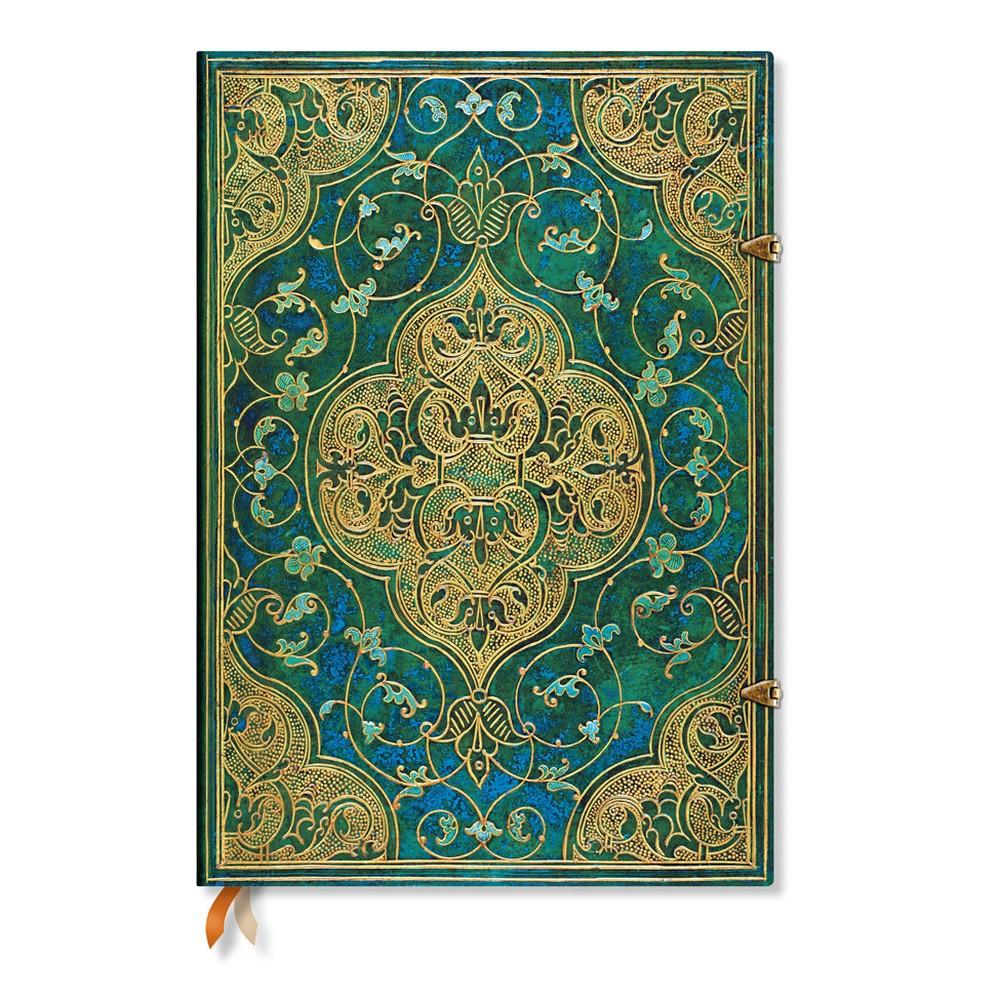 Nelinkovaný zápisník s tvrdou väzbou Paperblanks Turquoise Chronicles, 21 x 30 cm
